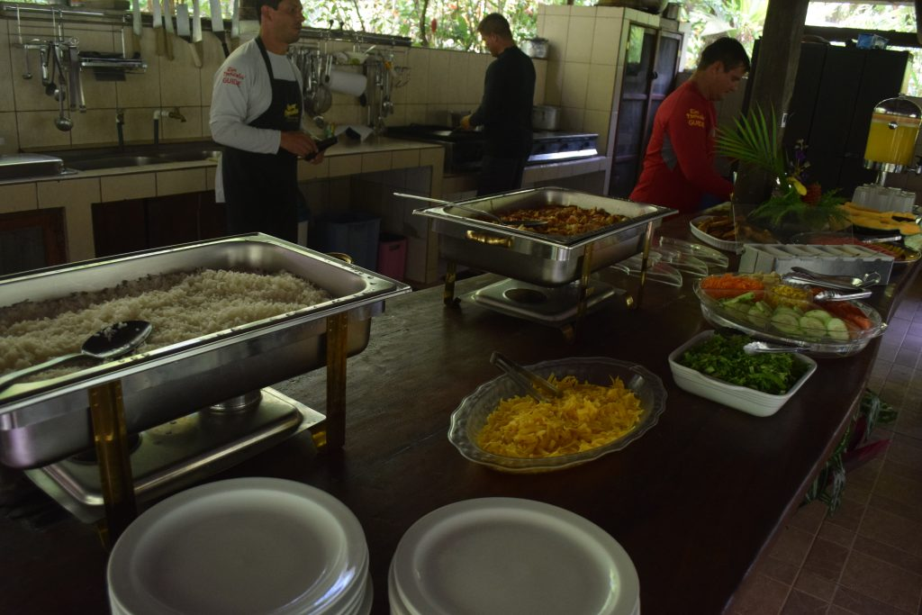 Lunch served at Rios Tropicales Lodge