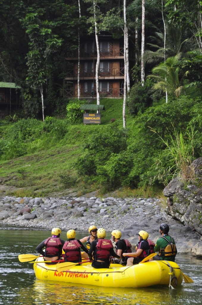 Arriving at the Rios Tropicales Lodge on the Pacuare River Costa Rica